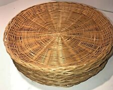 Wicker Paper Plate Holders Set Of 8 For Camping Picnics Great Cond!