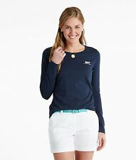 Vineyard Vines Women Long Sleeve Whale Logo Soft Tee Shirt Top navy blue M