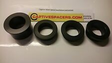 Kawasaki ZX6R ZX6 2005- 2006 Captive wheel spacers. Full wheel set. Black