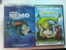 Finding Nemo (Dvd, 2003, 2-Disc Set) and Shrek (2-Disc Special Edition)