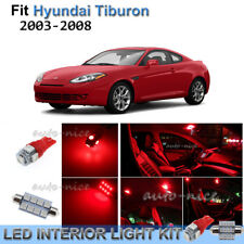 For 2003-2008 Hyundai Tiburon Brilliant Red Interior LED Lights Kit 8 Pieces
