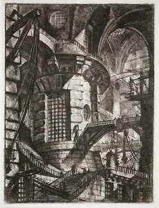 Giovanni Battista Piranesi The Round Tower Poster Giclee Canvas Print