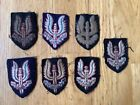 Great collection of 7 British SAS special air service beret badge patches, ww2