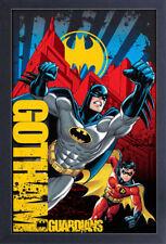 BATMAN GOTHAM GUARDIANS 13x19 FRAMED GELCOAT DC COMICS BRUCE WAYNE ROBIN JOKER!!