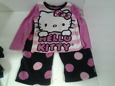 Hello Kitty Girls 2 Piece Pajama Set Fleece Size 4 Long Sleeve Top Long Pants