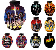 Hot ! New Fashion Women/Men KISS Rock Band 3D Print Casual Hoodies Sweatshirt