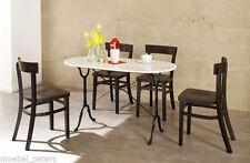Bistrotisch Tisch Gastro mit Marmorplatte 120cm NEU