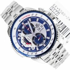 Casio Edifice Men's Wristwatch - EF-558-2AV BLUE DIAL LUXURY WATCH CHRONOGRAPH
