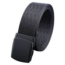 "WYuZe Tactical Web Belt Outdoor 1.5"" Wide Men Nylon Military Belt Plastic Buc..."