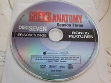 Greys Anatomy Third Season 3 Disc 7 Replacement DVD Disc Only 57-260