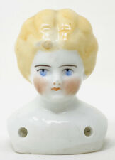 """3"""" ANTIQUE BLONDE HAIR CHINA SHOULDER HEAD, 4 ATTACHMENT HOLES, GERMANY"""