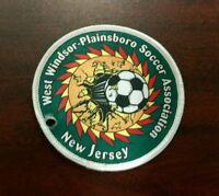 Vintage West Windsor Plainsboro Soccer Association New Jersey Patch sports rare