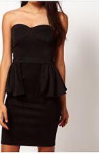 U GET BOTH! NEW & TAGS Rare London black Peplum Dress & Sportsgirl handbag SZ 8
