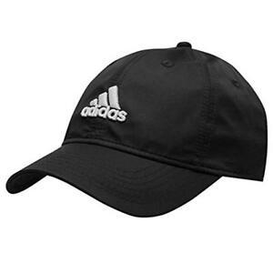 Genuine Adidas Logo Caps Running Golf Baseball Hat Black Navy Blue Mens Womens