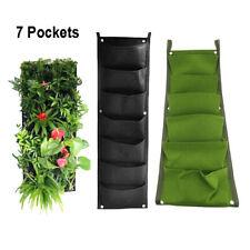 7-Pocket Plant Grow Bags Fabric Vertical Garden wall Growing pots Veg Flower bag