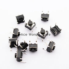 100pcs Tactile Push Button Switch Momentary Tact 6x6x5mm DIP Through-Hole 4pin