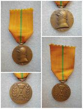 MEDAGLIA BELGA ALBERTUS REX 1909-1934 MARCATA V.D ORIGINALE DELL'EPOCA