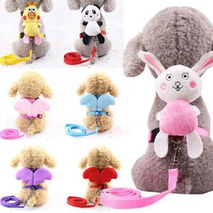 Cute Pet Dog Harness Leash Cartoon Doll Wings  Puppy Collar Cat Safty Strap Belt