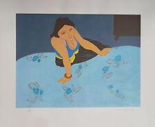 Pierre BONCOMPAIN (né 1938)  lithographie Femme allongée P1687