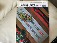 'Vintage ' Coats Canvas Stitch  Embroidery Pattern booklet. 1961 Great Designs.
