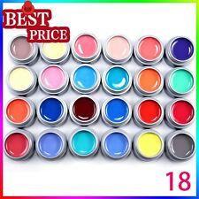 Lot 24 Color Pure Builder UV Gel Extension Gel Polish Nail Lacquer Hot Gift 5ml