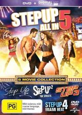 Step Up 1 - 5 DVD Set STEP UP+STEP UP 2 THE STREETS+STEP UP 3+Miami Heat+All In