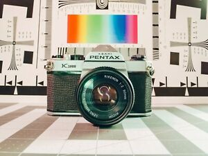 Pentax K1000 35mm SLR Full Manual Film Camera with 50mm lens Student Photography