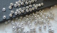 100pcs Metal Spacer Beads for Bracelets 4mm Silver Plated Filigree Jewelry