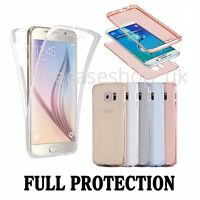 Shockproof 360° Silicone Protective Clear Case Cover For Samsung Galaxy S6 S7