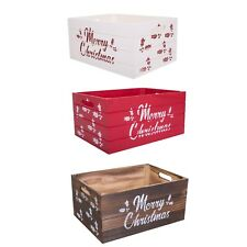 Christmas Edition Wooden Crates Retail Display Storage Box Gift Hamper Eve Box