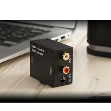 Coaxial / Toslink Digital Optical to Analog L/R Stereo Audio Converter Adapter