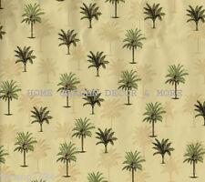 Tropical Green Tan Palm Tree Vinyl Contact Paper Shelf Drawer Liner Peel Stick