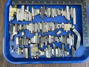Lot of Assorted MACHINIST TOOLS LATHE MILL Machinist Cutters