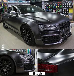 Black New Satin Chrome Vinyl Car Wrap Stretchable Chrome Air Bubble Free Vinyl