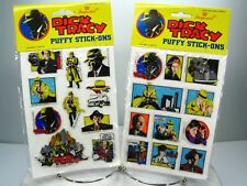 Vtg Dick Tracy Puffy Stickers Stick-Ons New Lot of 2 Walt Disney Imperial 1990