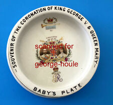 KING GEORGE V & QUEEN MARY - CORONATION - BABY'S PLATE - 1911 - SHELLEY/ENGLAND