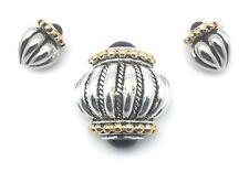 12 Pendant Earring Sets Bulk Wholesale Lots Gold Silver Plated Black Stone New