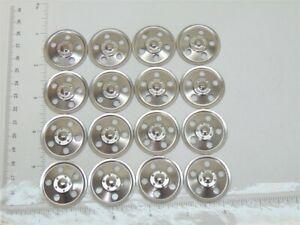 Set of 16 Zinc Plated Tonka Round Hole Hubcaps Toy Parts, Semi Trucks TKP-001-16