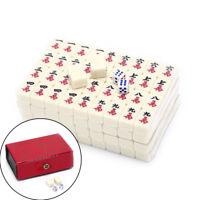 2.2x1.5x1.1cm Mah-Jong Set Multi-color Portable Vintage Mini Mahjong with box~RK
