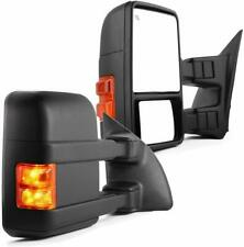 VX Towing Mirror Pair For 99-07 Ford F250/350/450/550 Power Heated Arrow Light