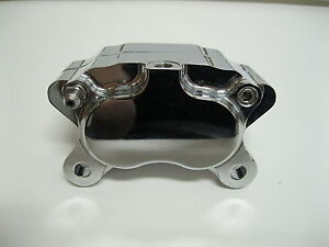Polished Ultima 4 Piston Caliper w/ Pads for Harley Models & Custom Applications