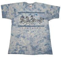 VTG 90s Tie Dye Shirt Psychedelic Mountain Bike Oregon Albert Hoffman Size L