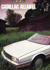 1987 Cadillac Allante Original Car Review Print Article J343