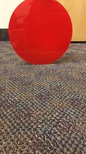 """02TRANSLUCENT RED ACRYLIC PLEXIGLASS 1/8"""" PLASTIC CIRCLE DISC 10"""" DIAMETER"""