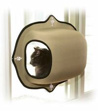 Cozy K&H Cat Kitten Window Mount Pod Bed Perch Lounger Furniture Soft Comfy Mat