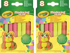 Lot of 2 Neon Modeling Clay Plastelina 8pcs - 4 Colors