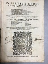 De Coniuratione Catilinae, C. Salustii Crispi, 1573, Bonelli, Venice