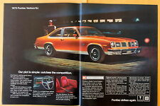 Pontiac Ventura SJ  Magazine Print Ad 1975