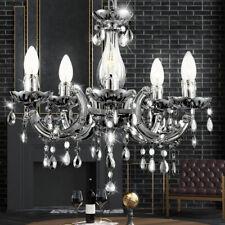LED Kristall Kronleuchter Wohn Zimmer Hänge Luster Lampe Chrom Decken Leuchte