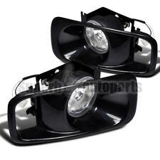 For 1999-2000 Honda Civic Dark Bracket Fog Lights+Switch Kit Clear Lens